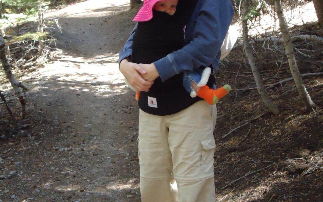Babywearing at Mammoth Lake