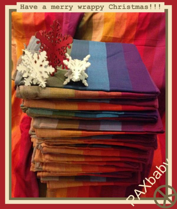 PAXbaby Girasol woven wrap Earthy Rainbow Northern Lights