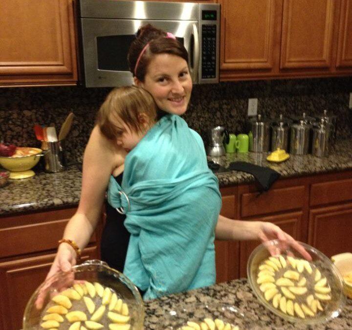 Babywearing 'n baking!