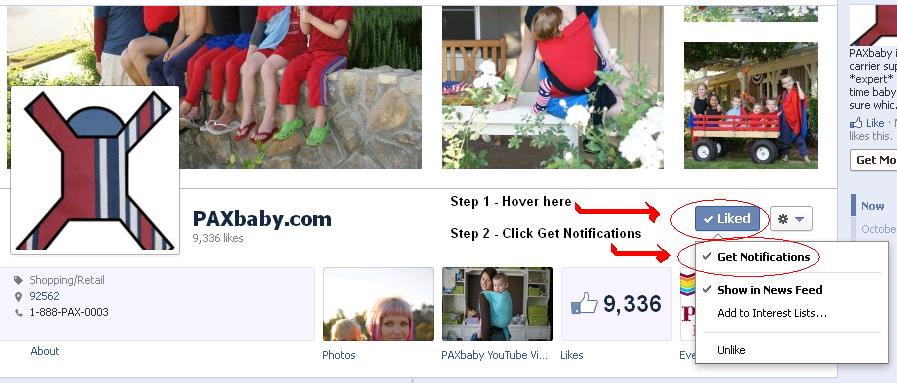 Learn How to get PAXbaby FB Notifications