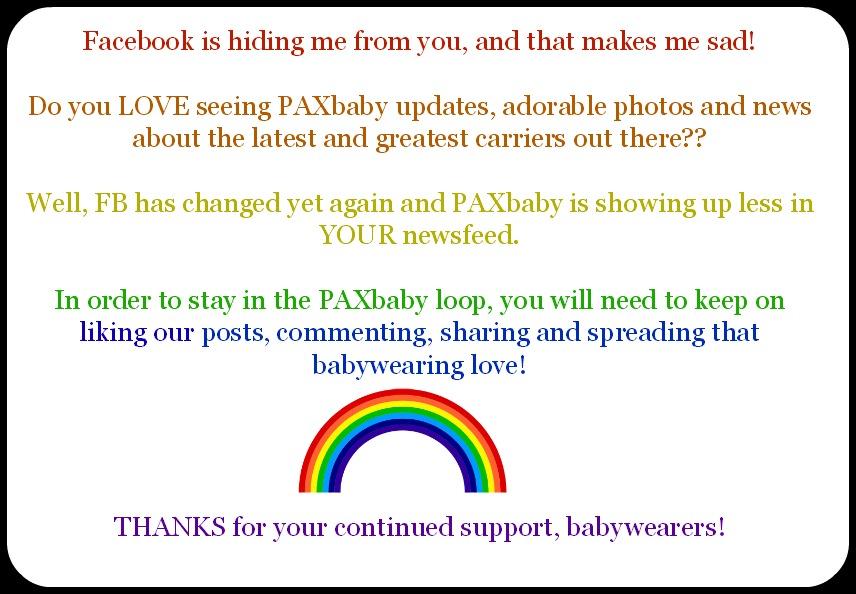 PAXbaby Facebook Update