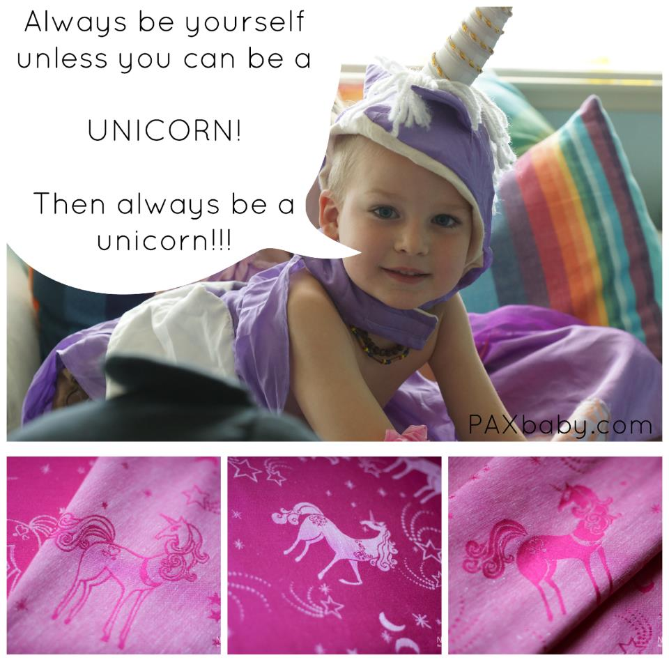 Paxbaby Pink Unicorns Woven Wraps What