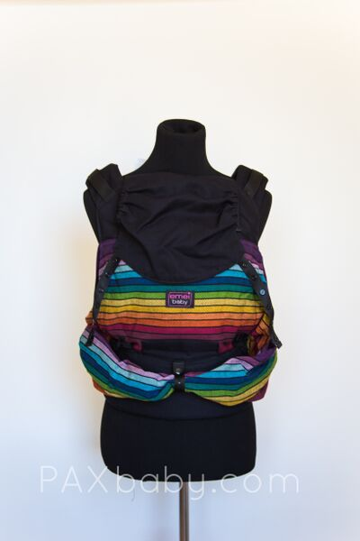 PAXbaby_Emeibaby_HALF_Girasol_Vice_Versa_cuervo_Twill_weave_baby_carrier_soft_structured_carrier_rings_babywearing_3__54310.1444115598.1280.1280
