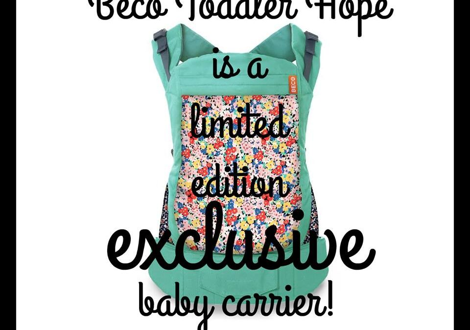 Beco Toddler Limited Edition HOPE is here!