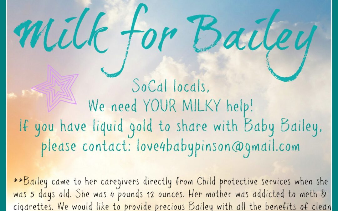 Milk for Bailey