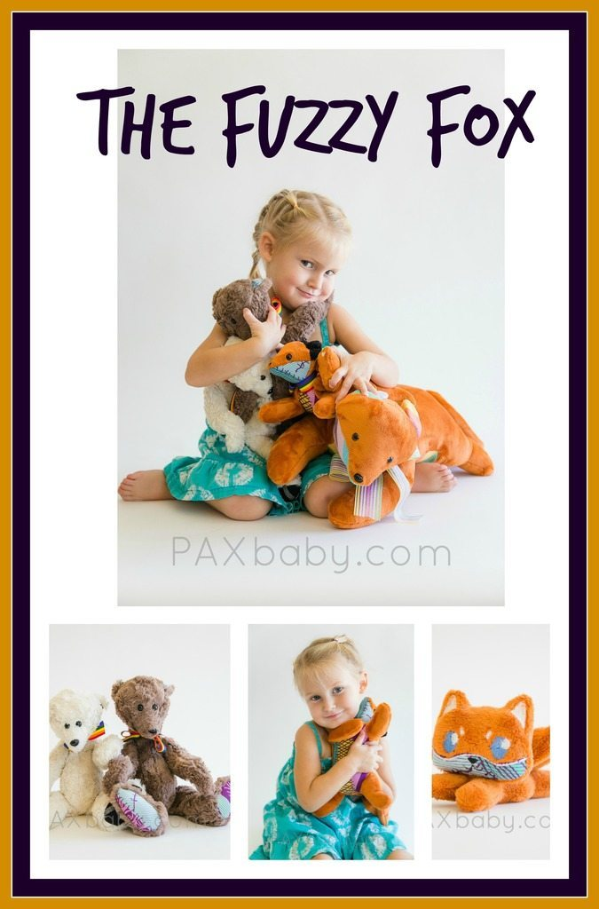 PAXbaby_the fuzzy fox_wrap scrap toys_foxes
