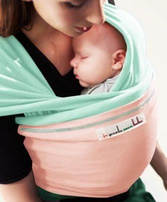 JMPBB_je_porte_mon_bebe_MINERAL_GREEN_Light_Pink_The_Original_baby_wrap_baby_carrier_babywearing_2__98097