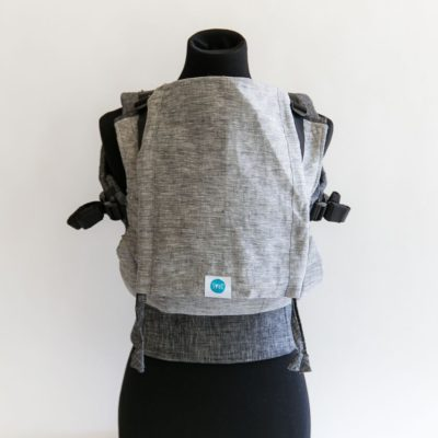 PAXbaby_Soul_LINEN_Full_Buckle_Carrier_stone_on_chambray_soft_structured_carrier_SSC_baby_carrier_babywearing__25439