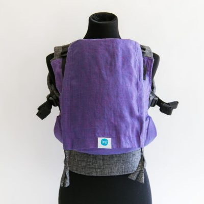 PAXbaby_Soul_LINEN_Full_Buckle_Carrier_tulip_on_chambray_soft_structured_carrier_SSC_baby_carrier_babywearing__15359