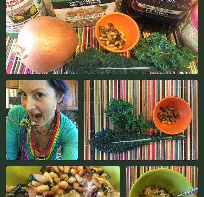 PAXmommy Jillian's famous Creamed Kale recipe