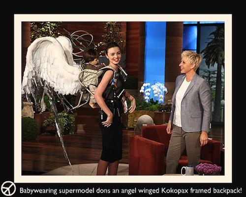 Babywearing on Ellen!